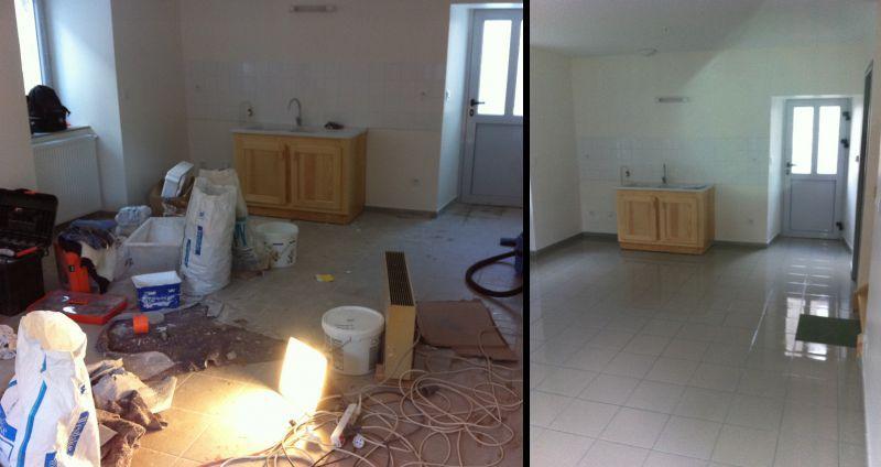 Remise en état d'appartements à St Pierre Duchamp