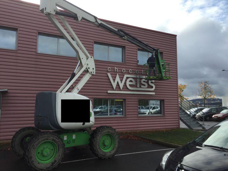 Lavage des vitres de la Chocolaterie WEISS - 42000
