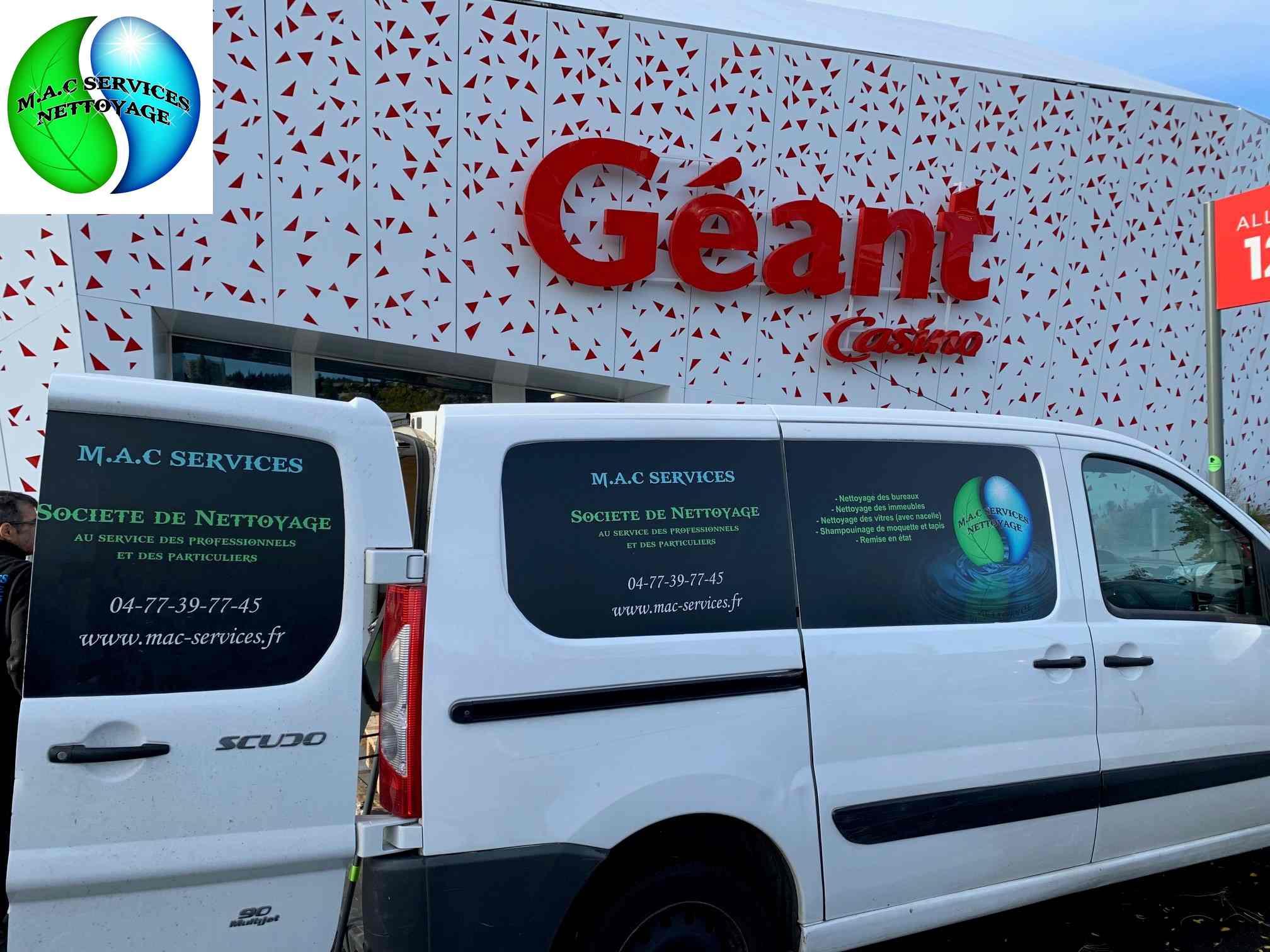 Nettoyage approfondi Centre Commercial Geant Casino - Espace Monthieu