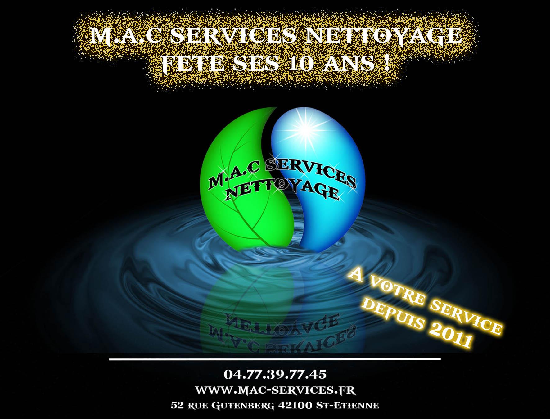M.A.C SERVICES NETTOYAGE fête ses 10 ans !